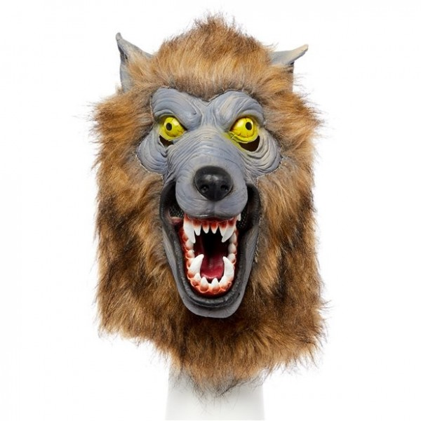 Werwolf Vollkopf-Maske für Erwachsene