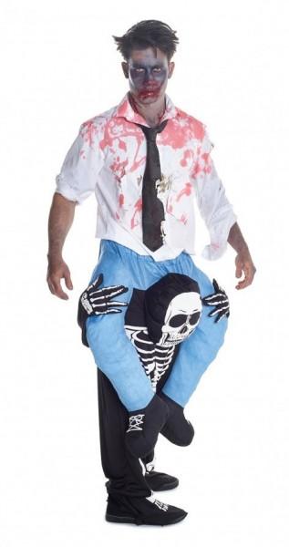 Tricky piggyback skeleton costume