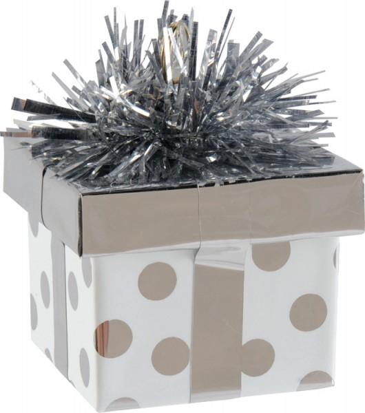 Balloon weight gift box silver 170g