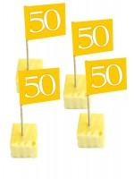 50 Käsespieße zur Goldenenhochzeit