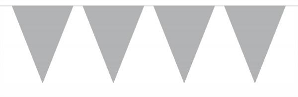 Große Wimpelkette Silber 6m 1
