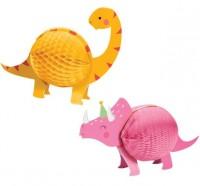2 Dinosaurier Kinder Wabenbälle