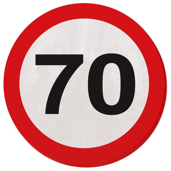20 traffic sign 70 napkins 33cm