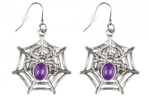 Spinnen Königin Ohrringe lila