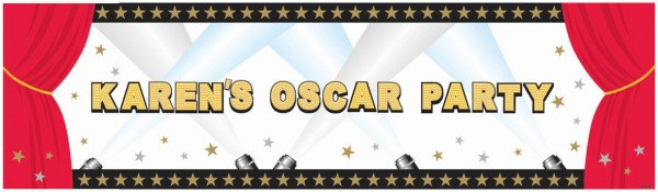 Hollywood canvas banner customizable 1.65mx 50.8cm