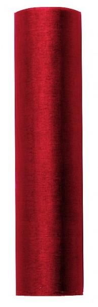 Tissu Organza Julie rouge 9m x 16cm