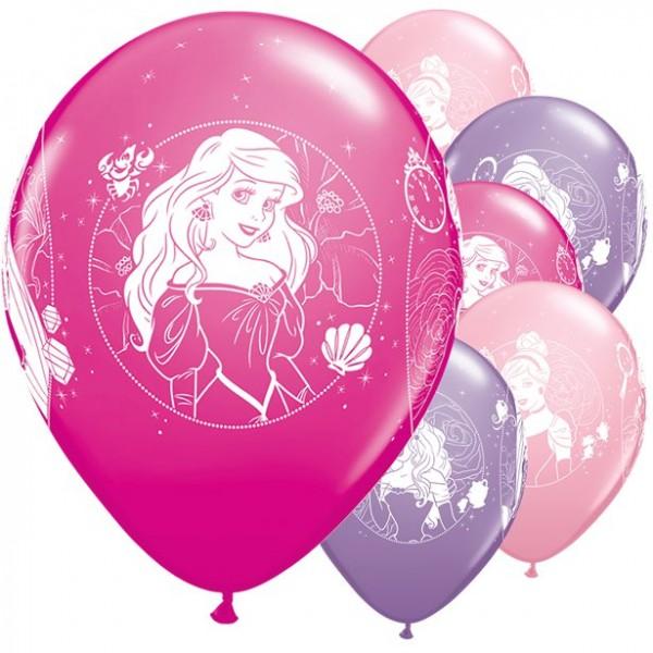 6 Romantic Disney Princess Ballons 30cm