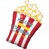 Welcome Carnival Popcorn Folienballon 50 x 73cm
