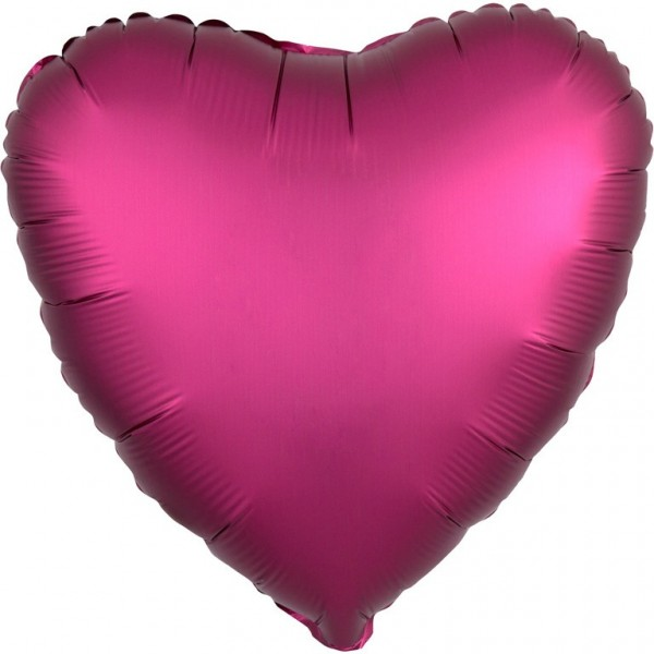 Ballon aluminium coeur aspect satin rose