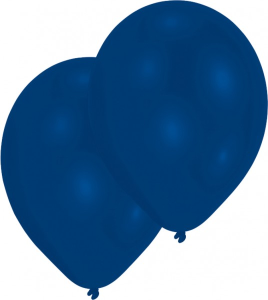 Set di 10 palloncini blu royal 27,5 cm
