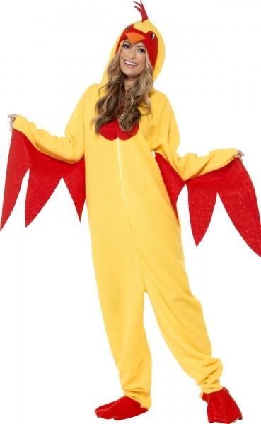 Hühner Overall Kostüm Für Erwachsene