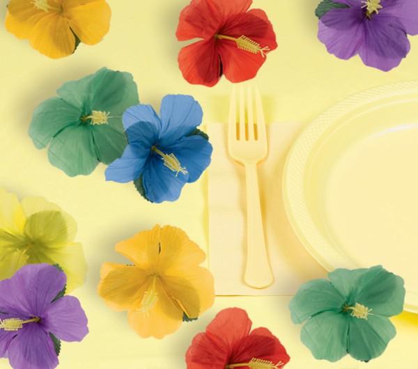 Décor à saupoudrer de fleurs d'hibiscus 24 pièces