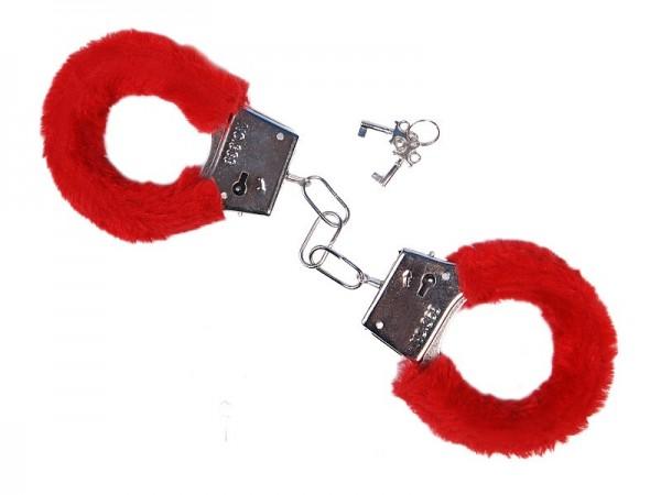 Plüsch-Handschellen feurig Rot