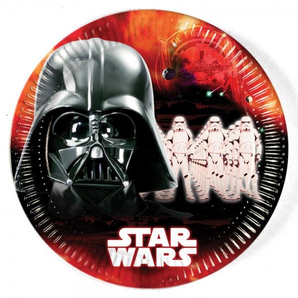 8 Star Wars Dark Side Pappteller 23cm