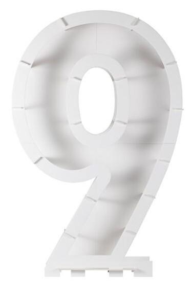 Soporte inflable para globos número 9