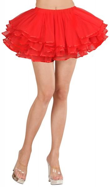 Kurzes Damen Tutu Rot