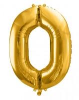 XXL Folienballon Zahl 0 gold 86cm