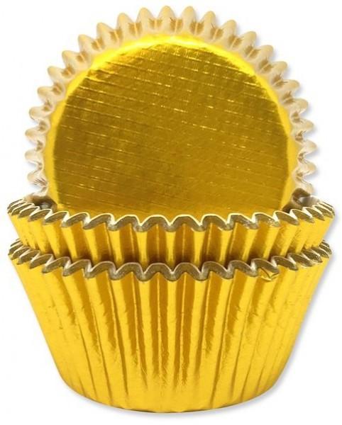 45 moules à muffins dorés Inde 4.8cm