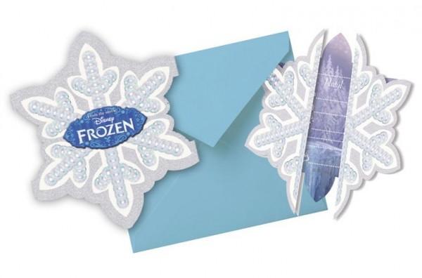 Invitaciones Frozen Ice Magic 6uds
