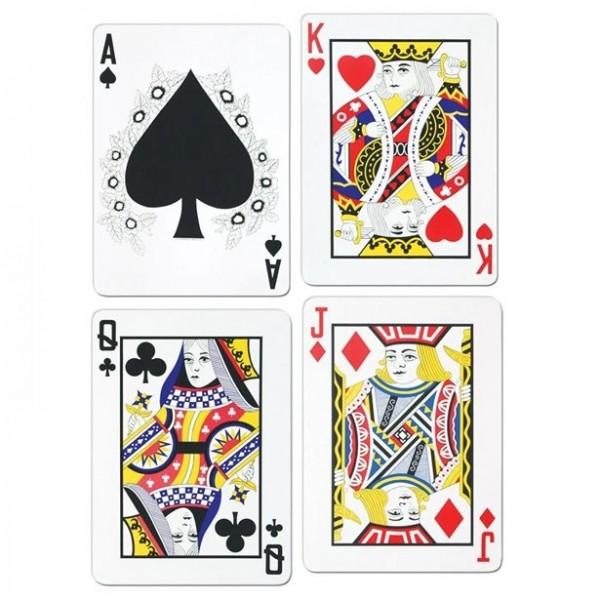 Cartes à jouer XL découpées en carton
