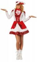 Funkenmariechen Paillettenkleid Rot-Weiß
