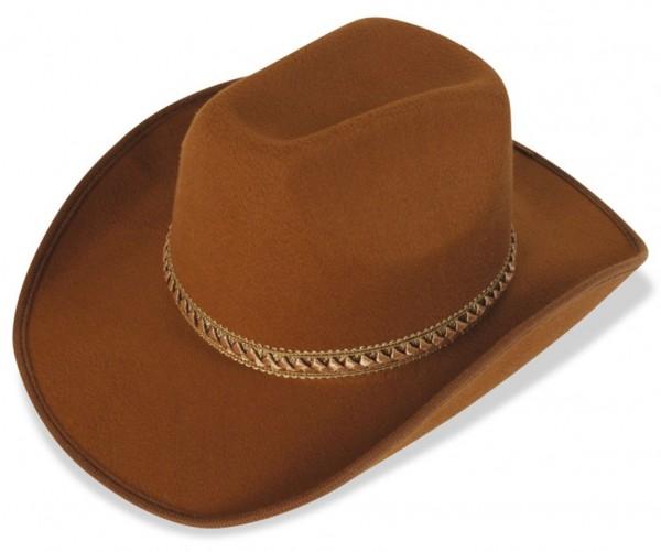 Brauner Country Cowboy Hut