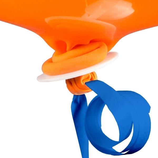 10 niebieskich czapek balonowych ze wstążką