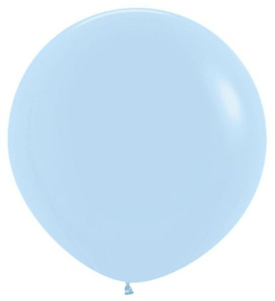 3 baby blue XL latex balloons 61cm