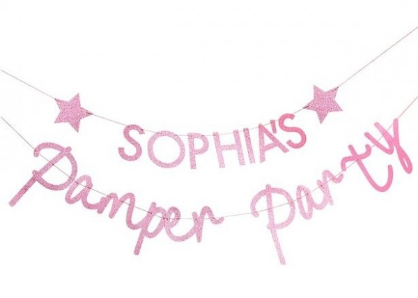 DIY Pamper Party Girlande pink 2,5m