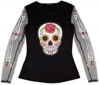 Dia De Los Muertos Calavera Shirt für Damen