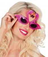 Flamingo Kiss Brille Pink