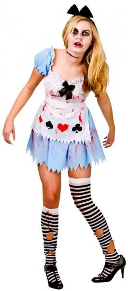 Alice Im Zombieland Damenkostüm