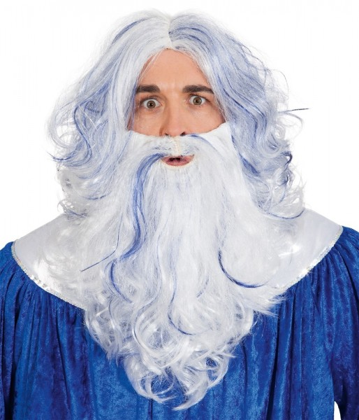 God van de oceanen pruik met baard