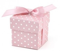10 Geschenkboxen Gepunktet