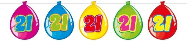 Balloon ghirlanda 21 ° compleanno