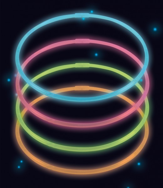 Colliers Power Glowstick 56cm Colorés 4pcs