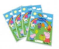 6 sacs cadeaux arc-en-ciel Peppa Pig