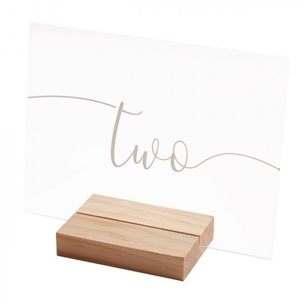 12 wooden table numbers 20cm wide x 15cm