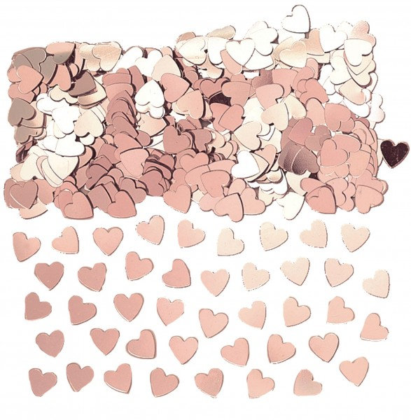 Heart whisper sprinkle decoration rose gold 14g