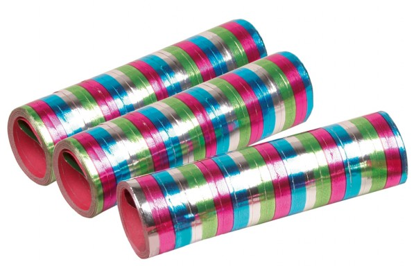 3 rollen Celebration Streamers Metallic