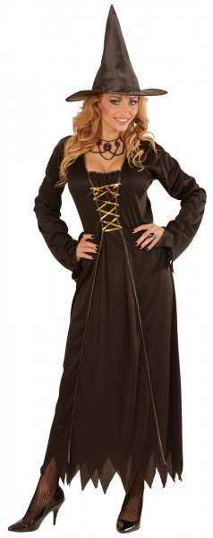 Costume da strega nero Ravella
