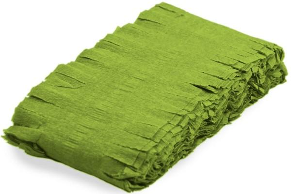 Drehgirlande Krepp Limonengrün 6m