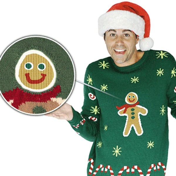 Special Effects Gingerbread Man Christmas Sweater For Men