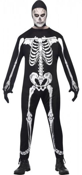 Unheimlicher Skelett-Overall für Herren