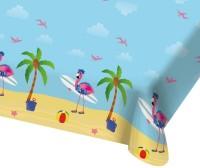 Surfer Flamingo Tischdecke 1,8 x 1,3m