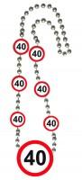 Verkehrsschild 40 Halskette