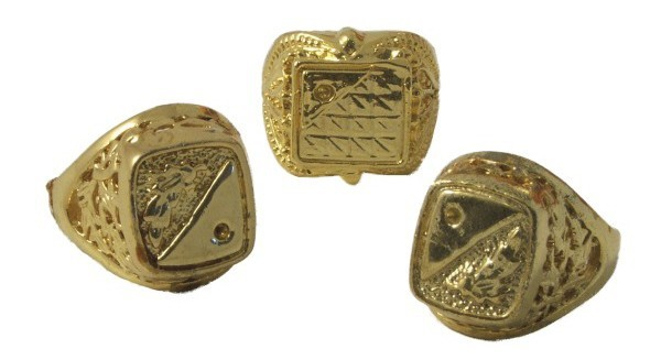 Golden signet ring Protzring