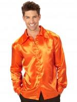 Seidenoptik Hemd Johnny Orange