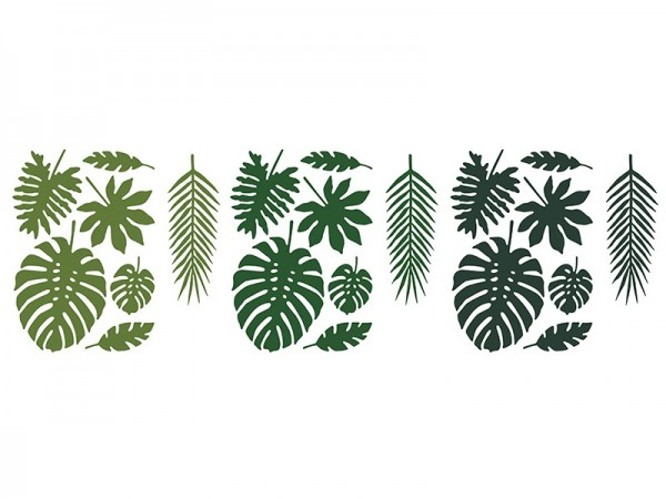 21 hojas de palmeras tropicales en 7 formas