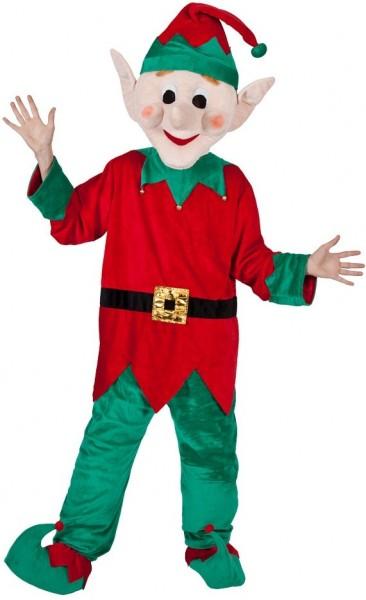 Kningle Rot-Grüner Weihnachtself Unisexkostüm